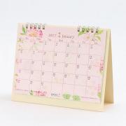 【2017年版】カレンダー 卓上リング<M> カントリータイム 花柄(30083006)