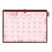 【2017年版】デスクカレンダー<A4> カントリータイム 花柄(30088006)
