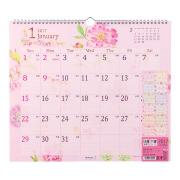 完売しました★【2017年版】壁掛カレンダー<L> カントリータイム 花柄(30094006)