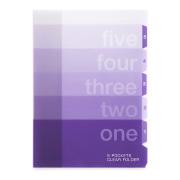 5ポケットクリアホルダー<A4> グラデーション柄 紫(35317006)★収納雑貨よりどり3点以上送料無料 5/18(木)まで★