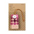 紙タグ 花柄 ピンク (24466006)