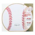 カラー色紙 丸形 野球ボール柄(33195006)