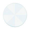 カラー色紙 丸形 放射柄 水色