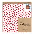 【Origami】オリガミ2色アソート <15角> てんとう虫柄 赤・青