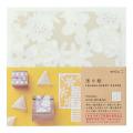 透け紙<15角> 花柄