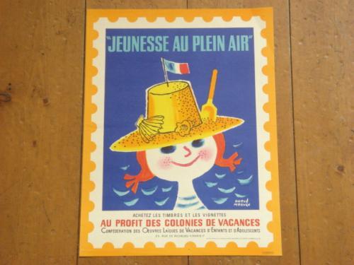 Jeunesse au plein air1967 ビンテージポスター エルベ・モルバン
