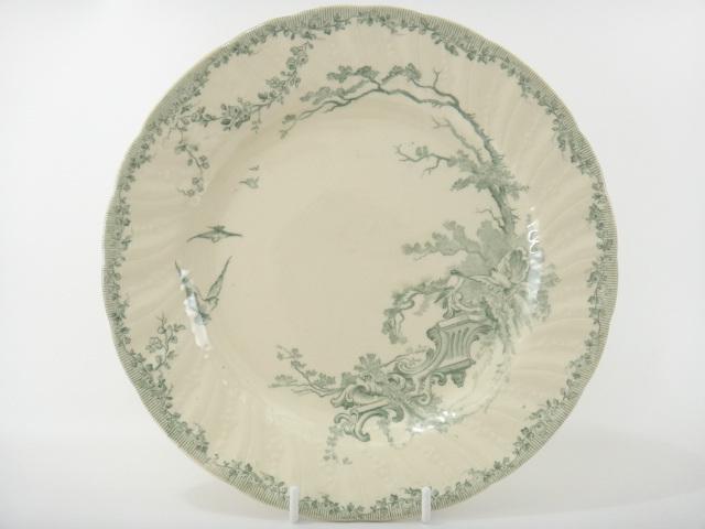鳥のアンティーク皿 WATTEAU GIEN製