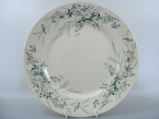 アンティーク皿 鳥 モントロー LINOTTE Creil et Montereau製