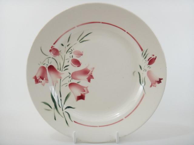 アンティークデザート皿 スズラン St.Amand製