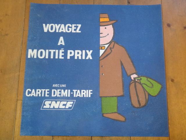サヴィニャック SNCF ムッシュー ビンテージポスター SAVIGNAC