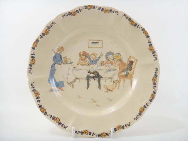 フランス アンティークデザート皿 おやつ ENFANTS RICHARD SARREGUEMINES製