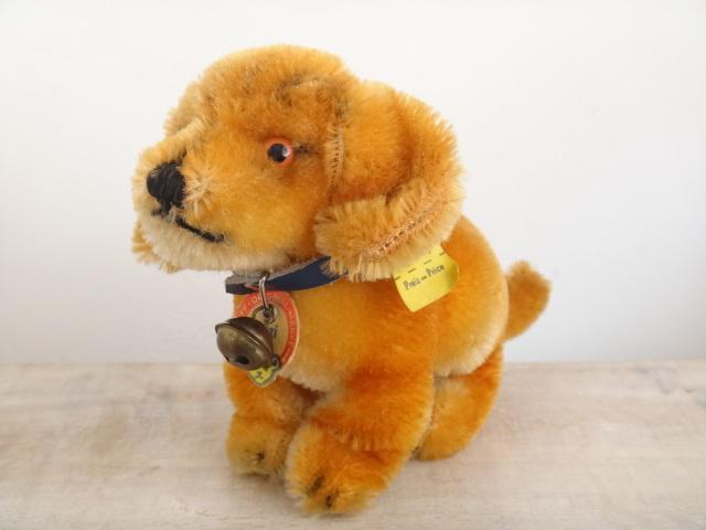 アンティーク シュタイフ 子犬のダックスフント Steiff Bazi 10cmサイズ