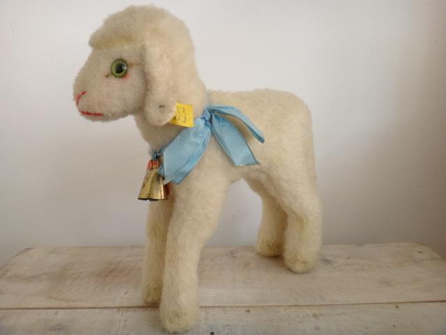 アンティーク シュタイフ ヒツジ Steiff Lamby 22cmサイズ
