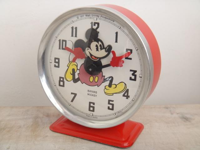 ディズニー ミッキーマウス ビンテージ 目覚まし時計 BAYARD MICKEY