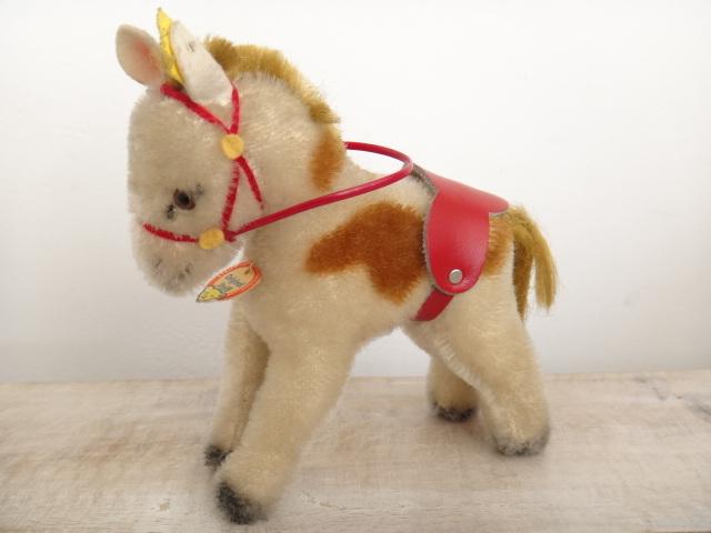 アンティーク シュタイフ ポニー Steiff Pony 12cmサイズ