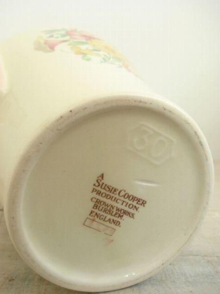 Susie cooper スージークーパー ピンク スウォンジースプレイ コーヒーポットBS日テレパリで逢いましょうOZ magazine表紙になりました!リンネルPOWERED BY