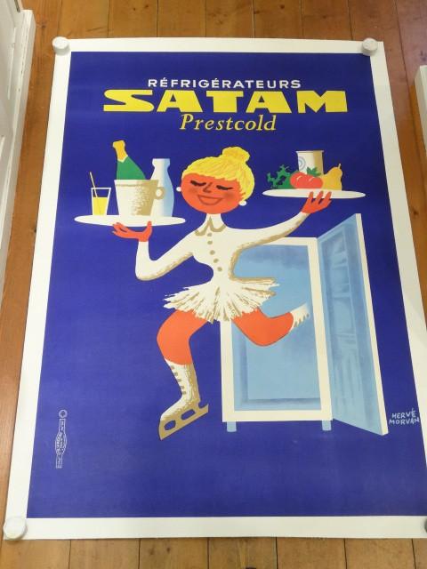 SATAM ビンテージポスター エルベ・モルバン Herve Morvan