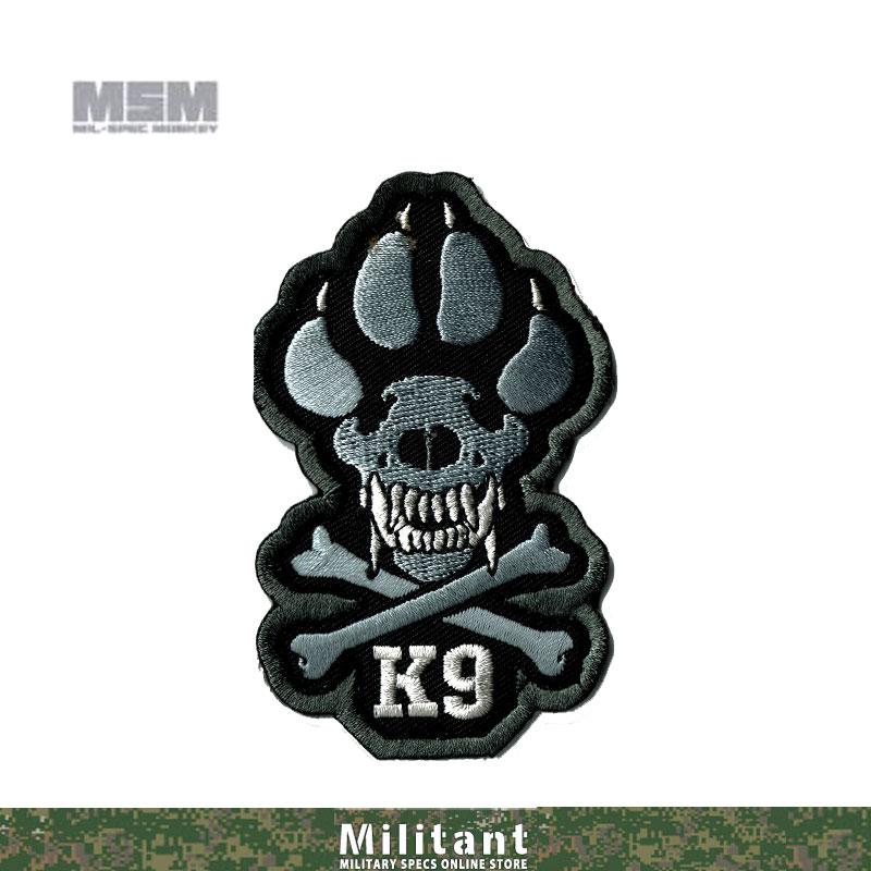 MILSPEC MONKEYパッチ K9 (刺繍)  SWAT