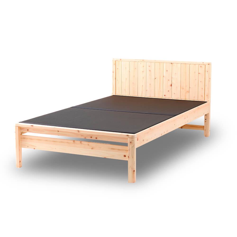 島根県産高知四万十産ひのき黒畳ベッド