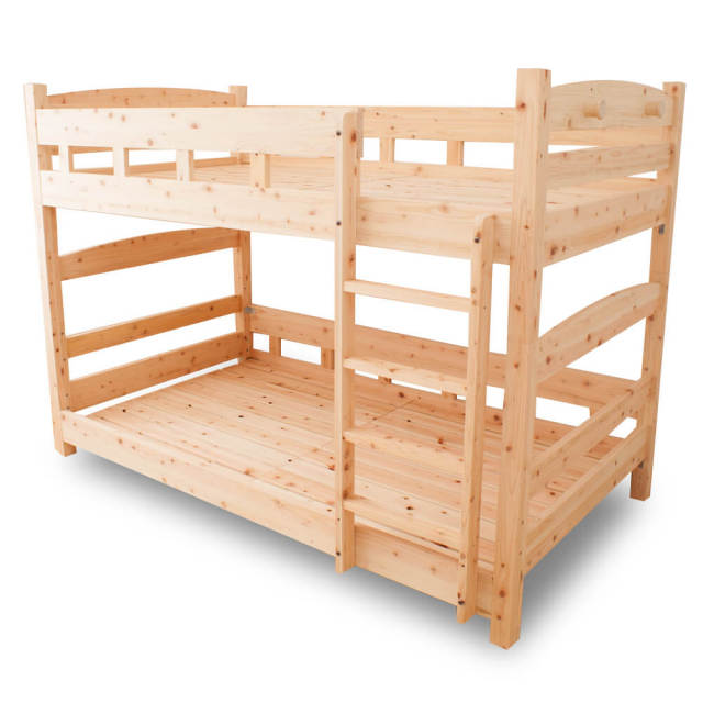 二段ベッド コンパクト 国産ひのき二段ベッド シングル 島根県産高知四万十産ひのきを使いました SG規格合格の安全性