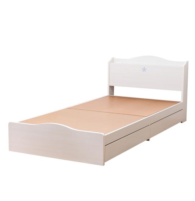 日本製フレーム | 花照明二杯収納ベッド
