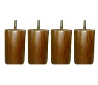 〔単品購入用〕脚付きマットレスベッド用木脚 10cmブラウン4本セット(1台分)