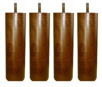 〔単品購入用〕脚付きマットレスベッド用木脚 20cmブラウン4本セット(1台分)