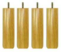 〔単品購入用〕脚付きマットレスベッド用木脚 20cmナチュラル4本セット(1台分)