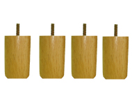 〔単品購入用〕脚付きマットレスベッド用木脚 10cmナチュラル4本セット(1台分)