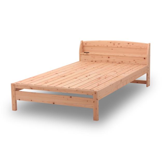 すのこベッド 国産  ひのき棚付すのこベッド シングル・セミダブル・ダブル| 島根県産高知四万十産ひのきを使いました