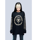 MISHKA 2.0 DEATH ADDER CHAIN L/S T-SHIRT (Black/Gold /EX16LC03)