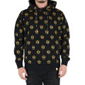 DOT MONOGRAM KILL WITH POWER HOODIE (BLACK.GOLD/MFA150418MGLD)