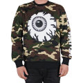 WOODLAND CAMO ALLOVER KEEP WATCH CREWNECK (GREEN CAMO/MFA150424M)