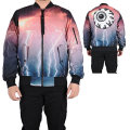 ALL OVER ELECTRICAL KEEP WATCH BOMBER JACKET (MULTI/MSS170511)
