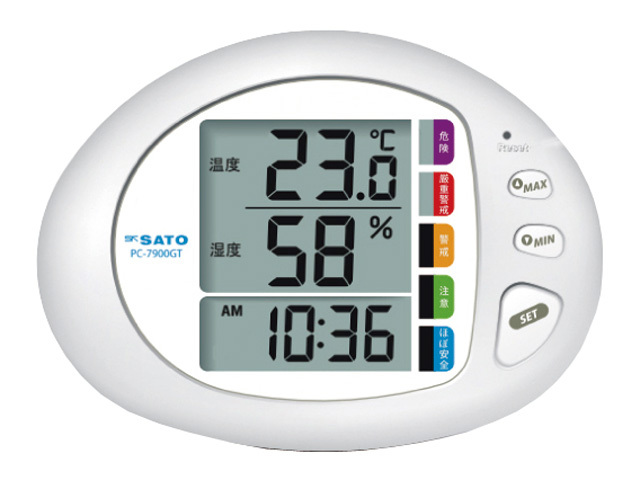 温湿度計(熱中症計付き)PC-7900GT