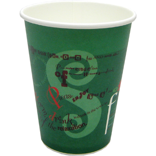 厚紙カップ12オンス グリフォ(緑) 1000個