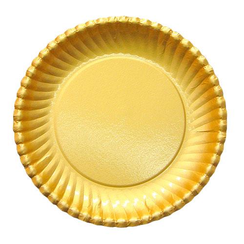 紙皿ゴールドプレート(菊型)8号 800枚