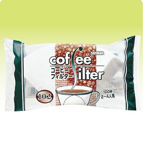 ★コーヒーフィルター102(2~4人用) 100枚