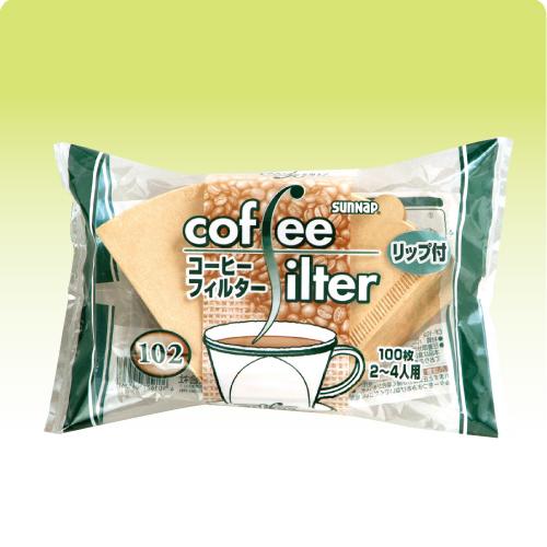 コーヒーフィルター102(2~4人用)リップ付 8000枚