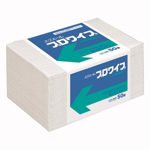 エリエール プロワイプソフトタオルホワイト帯どめLサイズ 12パック