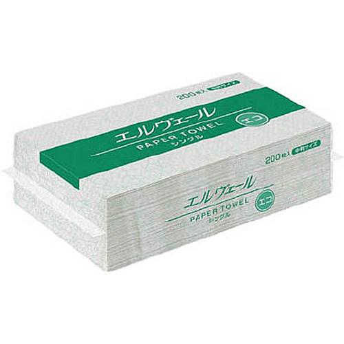 エルヴェール ペーパータオルエコシングル(中判) 30パック
