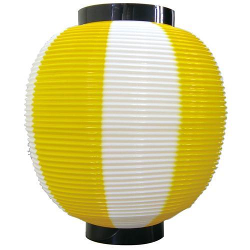 ポリ提灯・提燈(ちょうちん) 8878 九寸丸 黄白