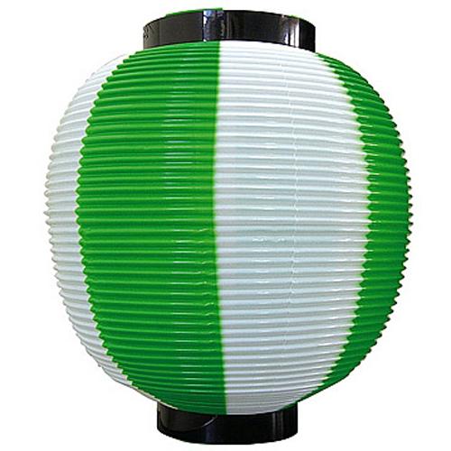 ポリ提灯・提燈(ちょうちん) 8880 九寸丸 緑白