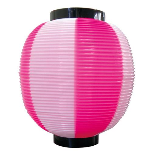 ポリ提灯・提燈(ちょうちん) 8881 九寸丸 ピンク白