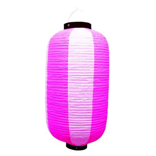 提灯・提燈(ちょうちん) 9168 祭装飾 ピンク白 9長