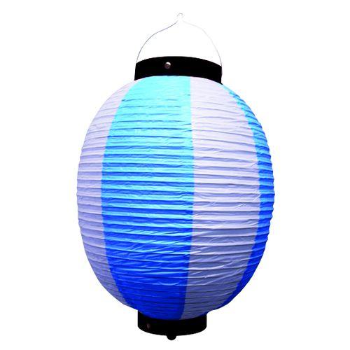 提灯・提燈(ちょうちん) 9171 祭装飾 青白 9号丸