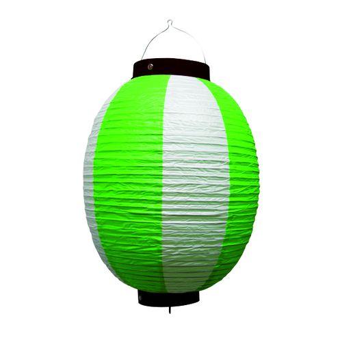 提灯・提燈(ちょうちん) 9174 祭装飾 緑白 9号丸
