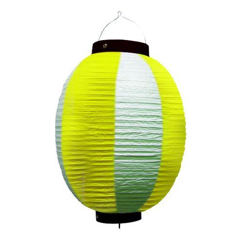 提灯・提燈(ちょうちん) 9175 祭装飾 黄白 9号丸