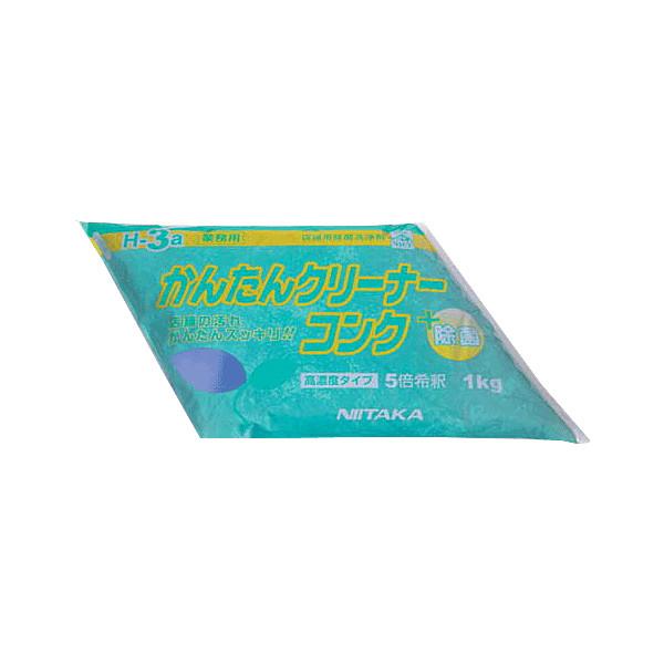 ニイタカ店舗用除菌洗浄剤 かんたんクリーナーコンク1kg (個包装)×4袋