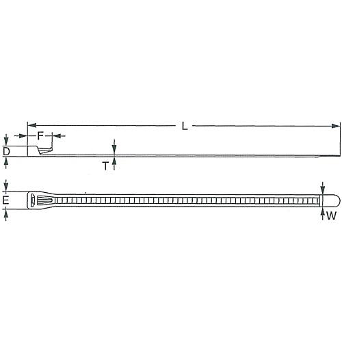 リピートタイ(リリースタイプ)耐薬品タイプ SG-R250P 4000本
